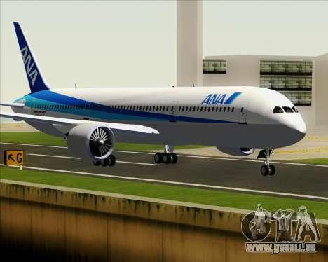 Boeing 787-9 All Nippon Airways pour GTA San Andreas sur la vue arrière gauche