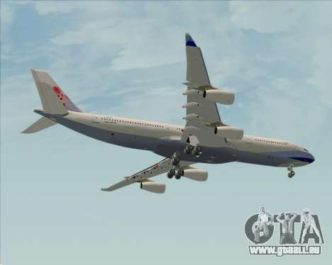 Airbus A340-313 China Airlines für GTA San Andreas Innenansicht
