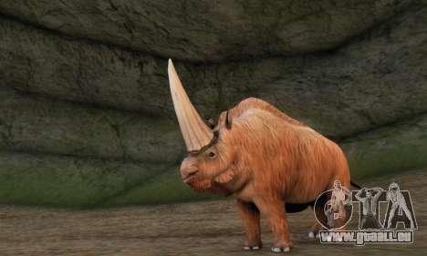 Elasmotherium (Extinct Mammal) pour GTA San Andreas troisième écran
