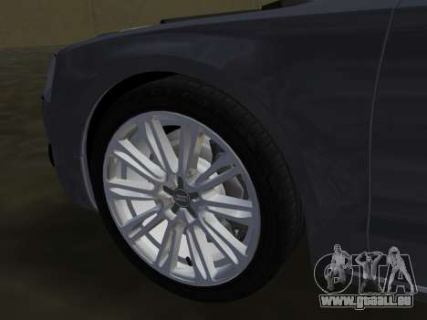 Audi A8 2010 W12 Rim1 pour GTA Vice City Salon