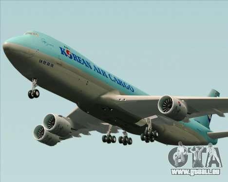 Boeing 747-8 Cargo Korean Air Cargo pour GTA San Andreas vue intérieure