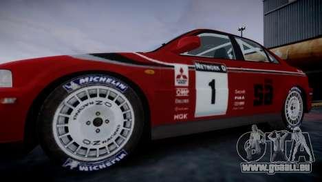 Mitsubishi Lancer Evolution VI Rally pour GTA 4 Vue arrière de la gauche