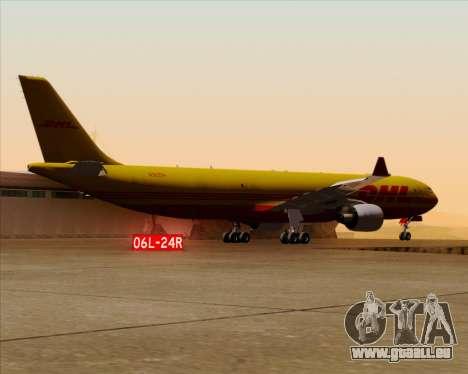 Airbus A330-300P2F DHL pour GTA San Andreas vue de dessous