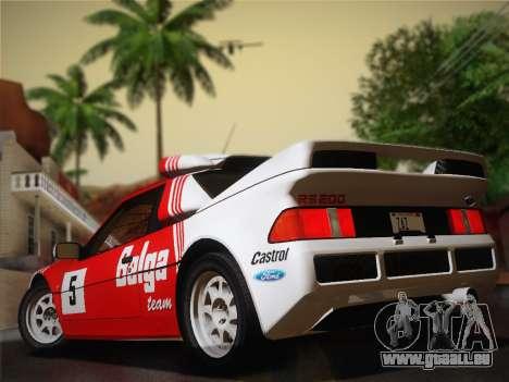 Ford RS200 Evolution 1985 pour GTA San Andreas vue de droite