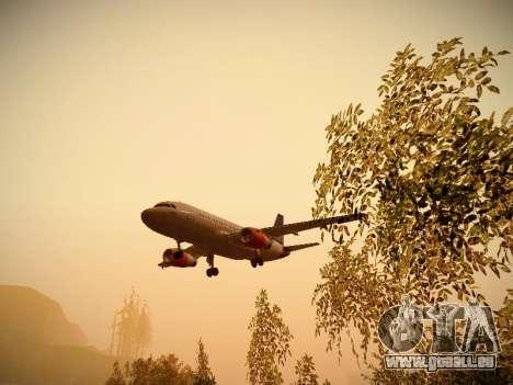 Airbus A319-132 Scandinavian Airlines für GTA San Andreas Unteransicht