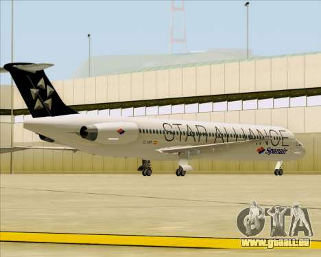 McDonnell Douglas MD-82 Spanair pour GTA San Andreas vue de dessous