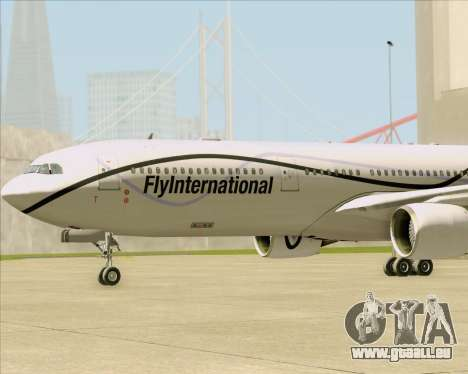 Airbus A330-300 Fly International für GTA San Andreas obere Ansicht