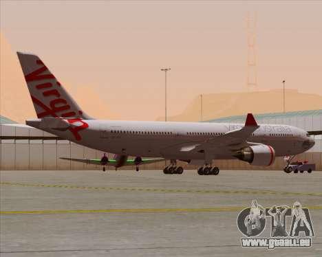 Airbus A330-200 Virgin Australia für GTA San Andreas Räder