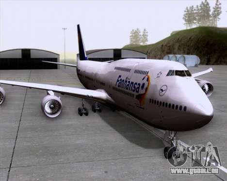 Boeing 747-830 Lufthansa - Fanhansa für GTA San Andreas zurück linke Ansicht