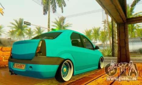 Dacia Logan Elegant pour GTA San Andreas sur la vue arrière gauche