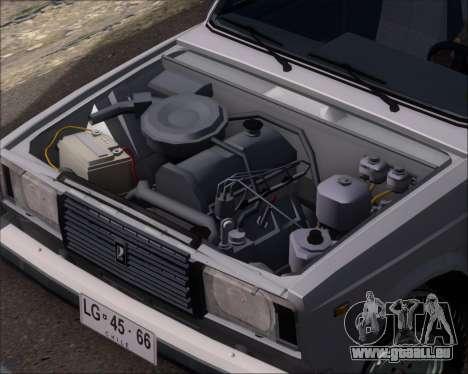 LADA 2107 pour GTA San Andreas vue intérieure