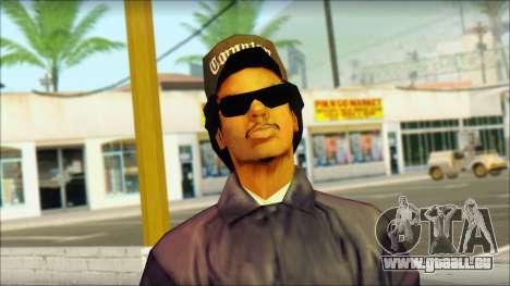 Eazy-E Blue Skin v1 pour GTA San Andreas troisième écran
