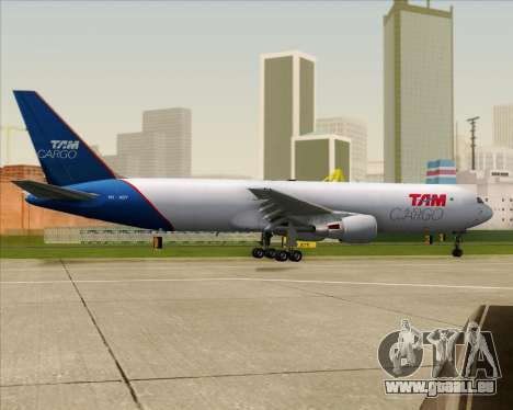 Boeing 767-300ER F TAM Cargo pour GTA San Andreas vue de dessus