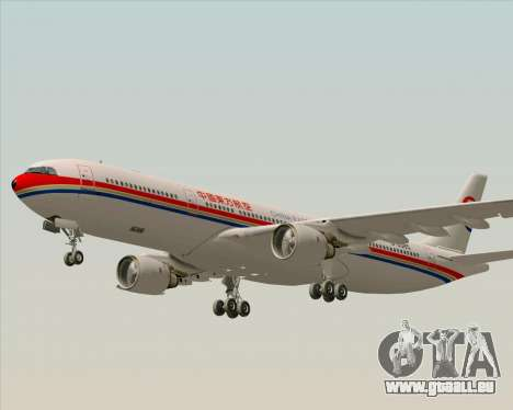 Airbus A330-300 China Eastern Airlines für GTA San Andreas obere Ansicht
