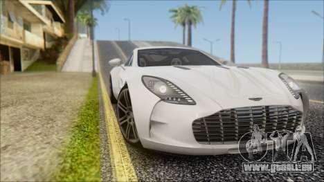 Aston Martin One-77 für GTA San Andreas rechten Ansicht