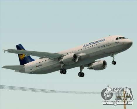 Airbus A320-211 Lufthansa für GTA San Andreas Rückansicht