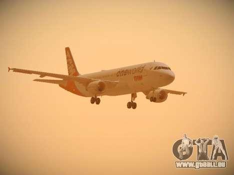 Airbus A320-214 TAM Oneworld für GTA San Andreas Seitenansicht