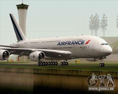 Airbus A380-861 Air France für GTA San Andreas rechten Ansicht