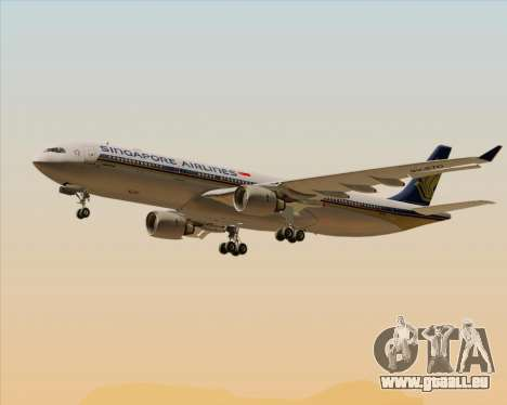Airbus A330-300 Singapore Airlines pour GTA San Andreas roue