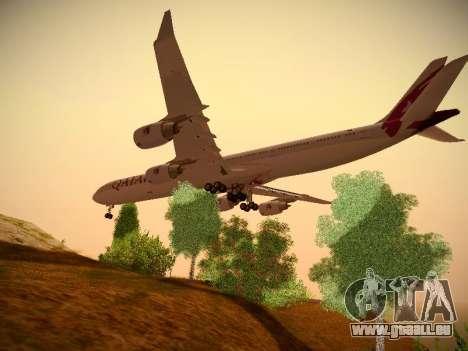 Airbus A340-600 Qatar Airways für GTA San Andreas Rückansicht