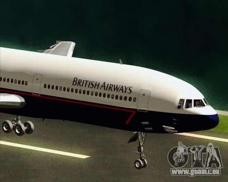 Lockheed L-1011 TriStar British Airways pour GTA San Andreas vue intérieure