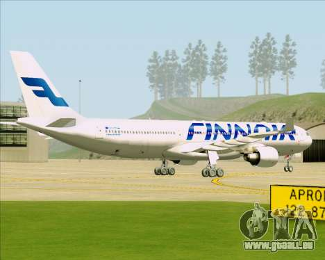 Airbus A330-300 Finnair (Current Livery) pour GTA San Andreas vue de droite