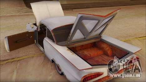 Chevrolet Biscayne 1959 Ratlook pour GTA San Andreas vue intérieure
