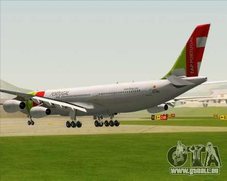 Airbus A340-312 TAP Portugal für GTA San Andreas zurück linke Ansicht
