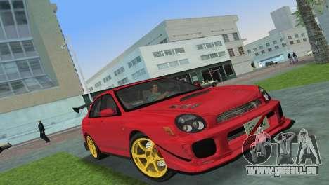 Subaru Impreza WRX 2002 Type 4 für GTA Vice City linke Ansicht