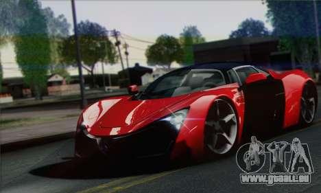 Marussia B2 pour GTA San Andreas vue de droite