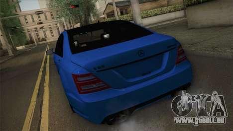 Mercedes-Benz S65 AMG pour GTA San Andreas laissé vue