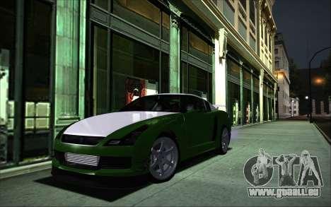 Elegy RH8 Tunable v1 pour GTA San Andreas sur la vue arrière gauche