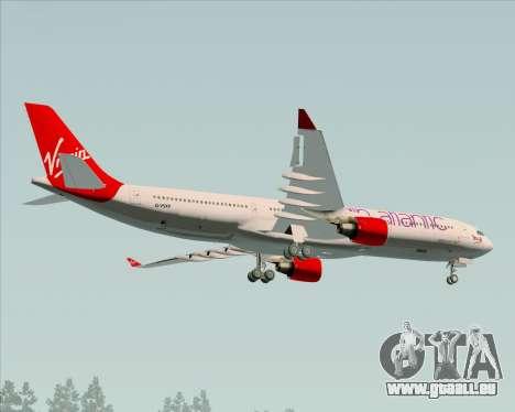 Airbus A330-300 Virgin Atlantic Airways pour GTA San Andreas vue intérieure