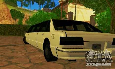 Premier Limousine pour GTA San Andreas sur la vue arrière gauche