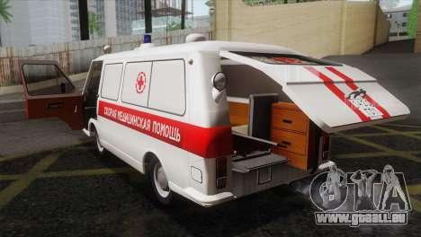 RAF 22031 Lettland - Krankenwagen für GTA San Andreas Seitenansicht