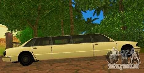 Premier Limousine pour GTA San Andreas laissé vue