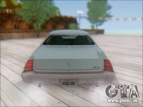 Chevrolet Monte Carlo 1973 pour GTA San Andreas vue arrière