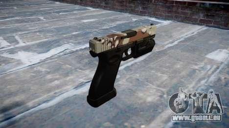 Pistole Glock 20 choco für GTA 4 Sekunden Bildschirm
