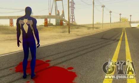 Skin The Amazing Spider Man 2 - Suit Symbiot pour GTA San Andreas quatrième écran