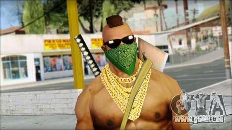 MR T Skin v11 pour GTA San Andreas troisième écran