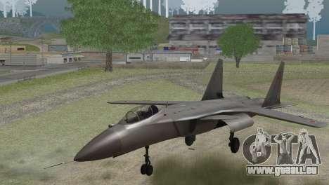Sukhoi SU-47 Berkut from H.A.W.X. 2 Stealth Skin für GTA San Andreas