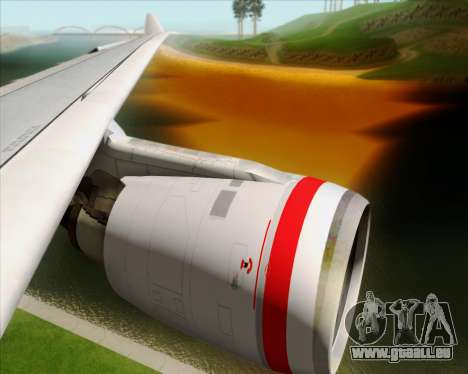 Airbus A330-200 Virgin Australia pour GTA San Andreas salon