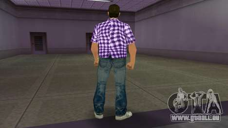 Kockas polo - lila T-Shirt für GTA Vice City dritte Screenshot