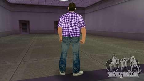 Kockas polo - lila T-Shirt für GTA Vice City dritte Screenshot