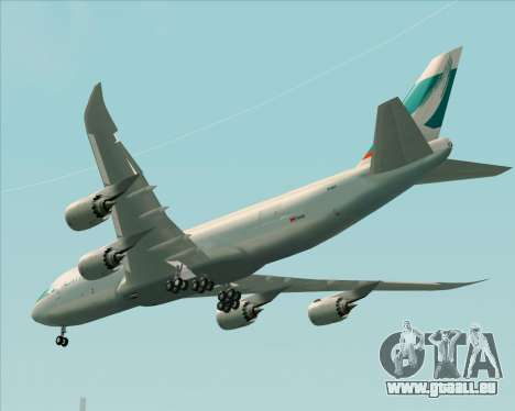 Boeing 747-8 Cargo Cathay Pacific Cargo für GTA San Andreas Rückansicht