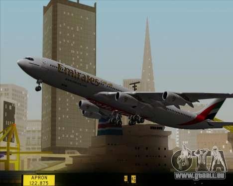 Airbus A340-313 Emirates für GTA San Andreas obere Ansicht