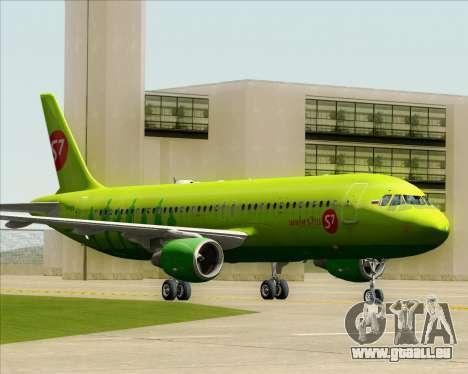 Airbus A320-214 S7-Siberia Airlines für GTA San Andreas linke Ansicht
