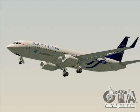 Boeing 737-86N Garuda Indonesia für GTA San Andreas Seitenansicht