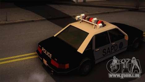 GTA 3 Police Car pour GTA San Andreas sur la vue arrière gauche