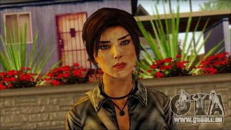 Tomb Raider Skin 3 2013 pour GTA San Andreas troisième écran